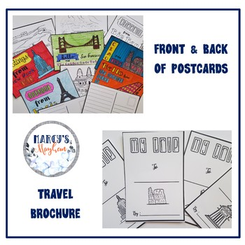 Writing Activity 4th & 5th grade- Postcards and Brochure