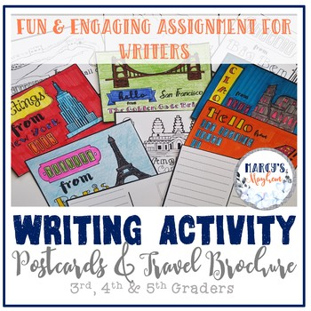 Writing 4th & 5th grade End of Year Activity- Postcards an