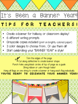 End of Year Writing Activities and BANNER!
