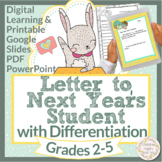 End of Year Activities Digital Letter to Next Years Student Printable Writing