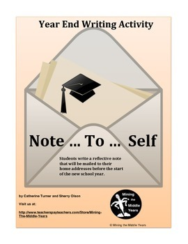 End of Year Writing Activity - Letter to Self