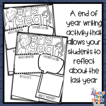 End of Year Writing Activity #My Year
