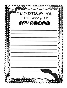 End of Year Writing - I Mustache You to Get Ready for the Next Grade