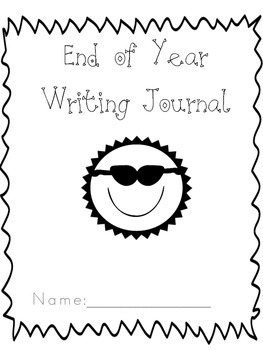 End of Year Writing Journal