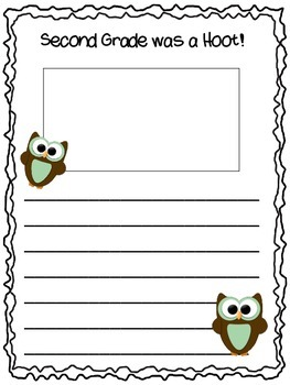 End of Year Writing Prompt - This Year was a Hoot!