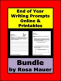 End of Year Writing Prompts Bundle Google Classroom & Prin
