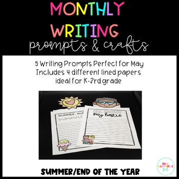 End of Year Writing Prompts and Crafts