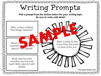End of Year Writing Prompts for May & June