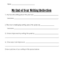 End of Year Writing Reflection