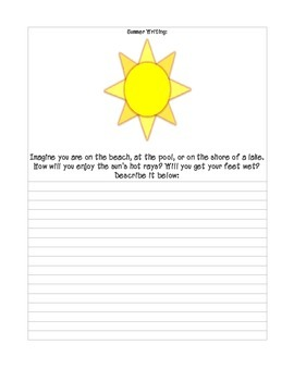 End of Year Writing Unit Grades 3 to 5