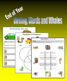 End of Year Writing, Words and Whales