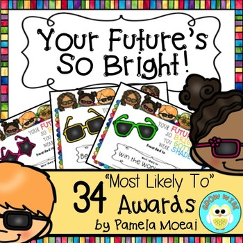 "End of Year Awards ""Your Future's So  Bright"" with Editable PowerPoint File"
