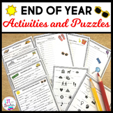 End of Year Activities and Puzzles