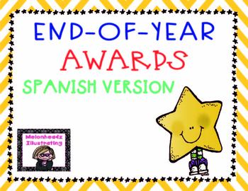 End-of-Year awards in Spanish