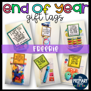 End of Year gift tags FREEBIE!