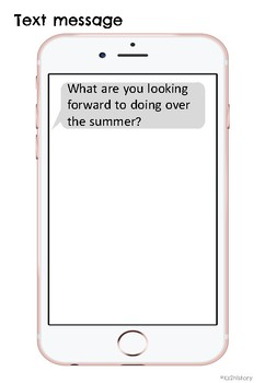 End of Year iPhone Activity Book