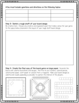 End of Year Project for Middle School: Create a Board Game - For any Subject