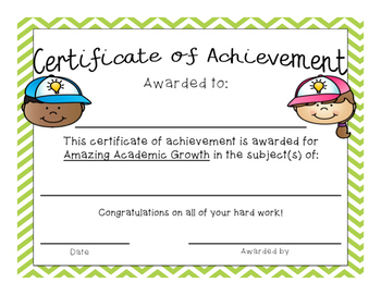 End of the Year (or anytime) Award Certificates - Chevron Theme FREEBIE