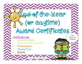 End of the Year (or anytime) Award Certificates - Chevron