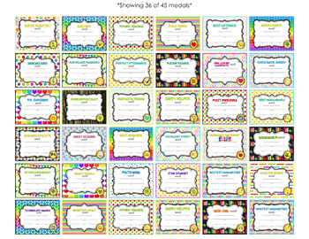 End of Year (or anytime!) Student Awards: *EDITABLE* Certificates & Medals