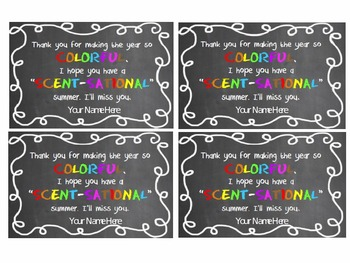 """End of Year """"scent-sational"""" Scented Marker Gift Tag"""