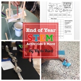 End of Year (stem challenges, graphing, writing craftivity, and crack the code)