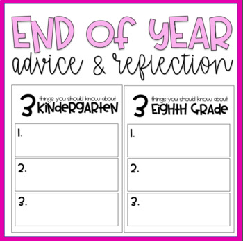 End of end reflections (grades K-6)