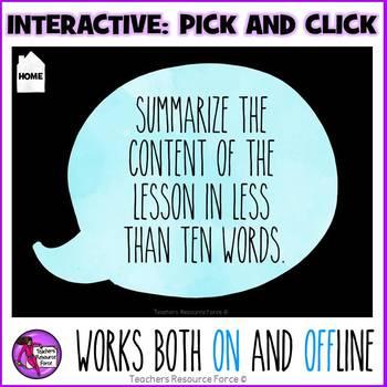 Digital Interactive Exit Activities