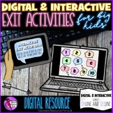 Digital Interactive Exit Activities for Remote Distance Learning