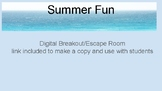 An End of School Year Digital Summer Fun Breakout Room Escape Room