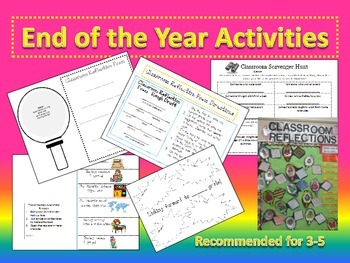 End of school year: activities, poems, reflections, goal setting