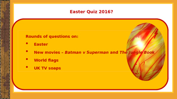 End of term: Easter Quiz 2016