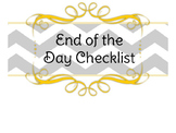 End of the Day Checklist **Chevron**