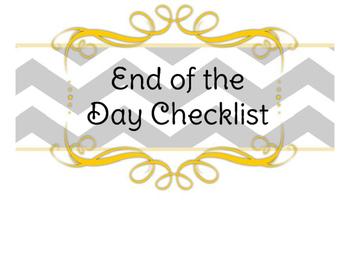 End of the Day Checklist **Chevron**