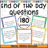 End of the Day | Morning Meeting Questions {EDITABLE} DIGI