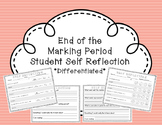End of the Marking Period Student Reflection