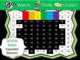 End of the Rainbow Expanded Notation - Watch, Think, Color Mystery Pictures