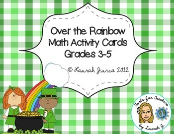 Over the Rainbow: Math Activity Cards for St. Patrick's Day Gr. 3-5