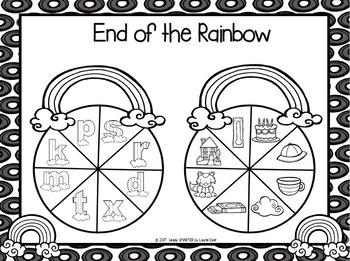 End of the Rainbow:  NO PREP Ending Sounds Spin Game