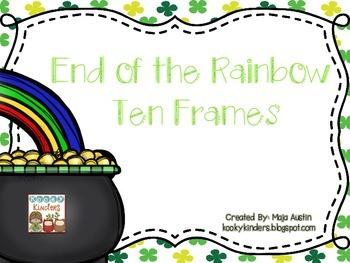 End of the Rainbow Ten Frames