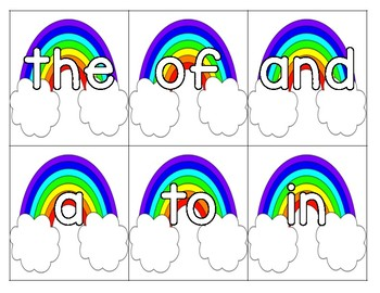 End of the Rainbow (pocket chart game)