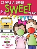 End of the School Year Unit {It Was a SWEET Year} First Grade & Kindergarten