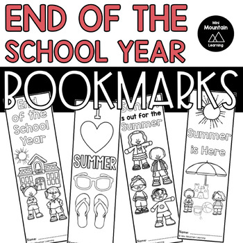 End of the School Year Bookmarks
