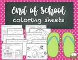End of the School Year Coloring Sheets