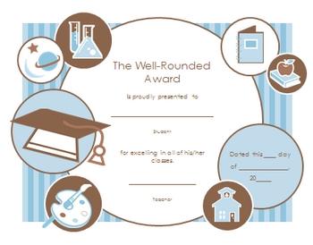 End of the School Year Fun:  Award Certificates