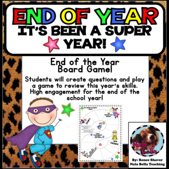 End of the School Year Game Superhero Theme