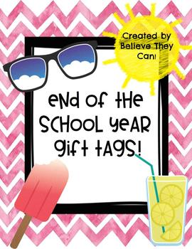 End of the School Year Gift Tags
