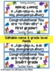 End of the School Year, Graduation Student Gift Tags Set of 23