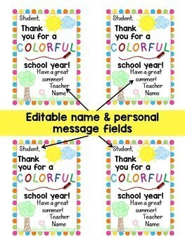 End of the School Year, Graduation Student Gift Tags, 24 Different Designs