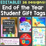 End of the Year Gift Tags & Gift Ideas, Editable 24 Designs